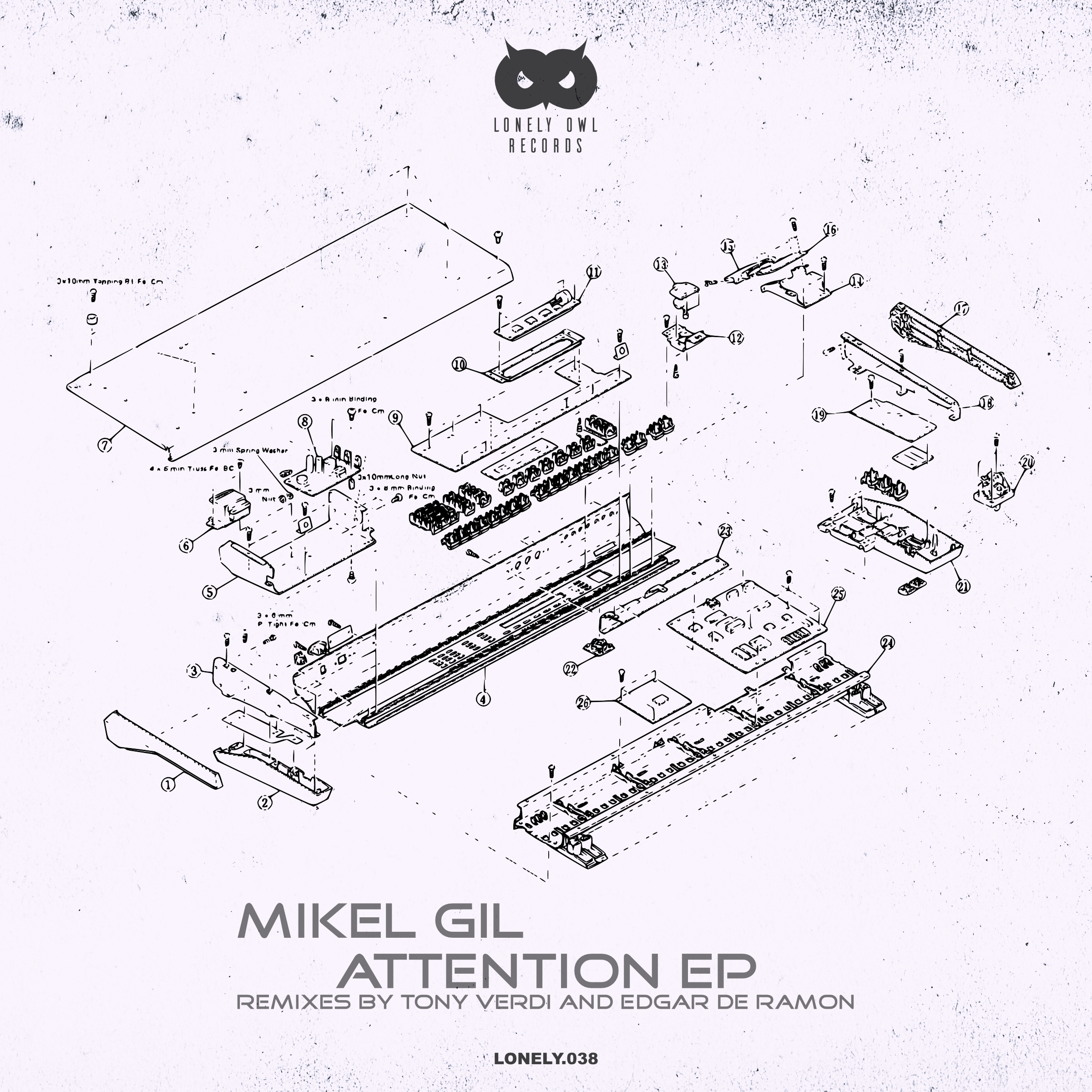 'ATTENTION' ES EL NUEVO EP DE MIKEL GIL EN LONELY OWN RECORDS Cover Lonely038