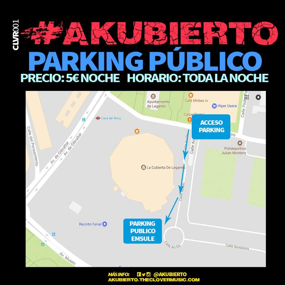 Es la hora de Akubierto, el mejor festival de rock y punk rock nacional! PARKING AKUBIERTO 2017