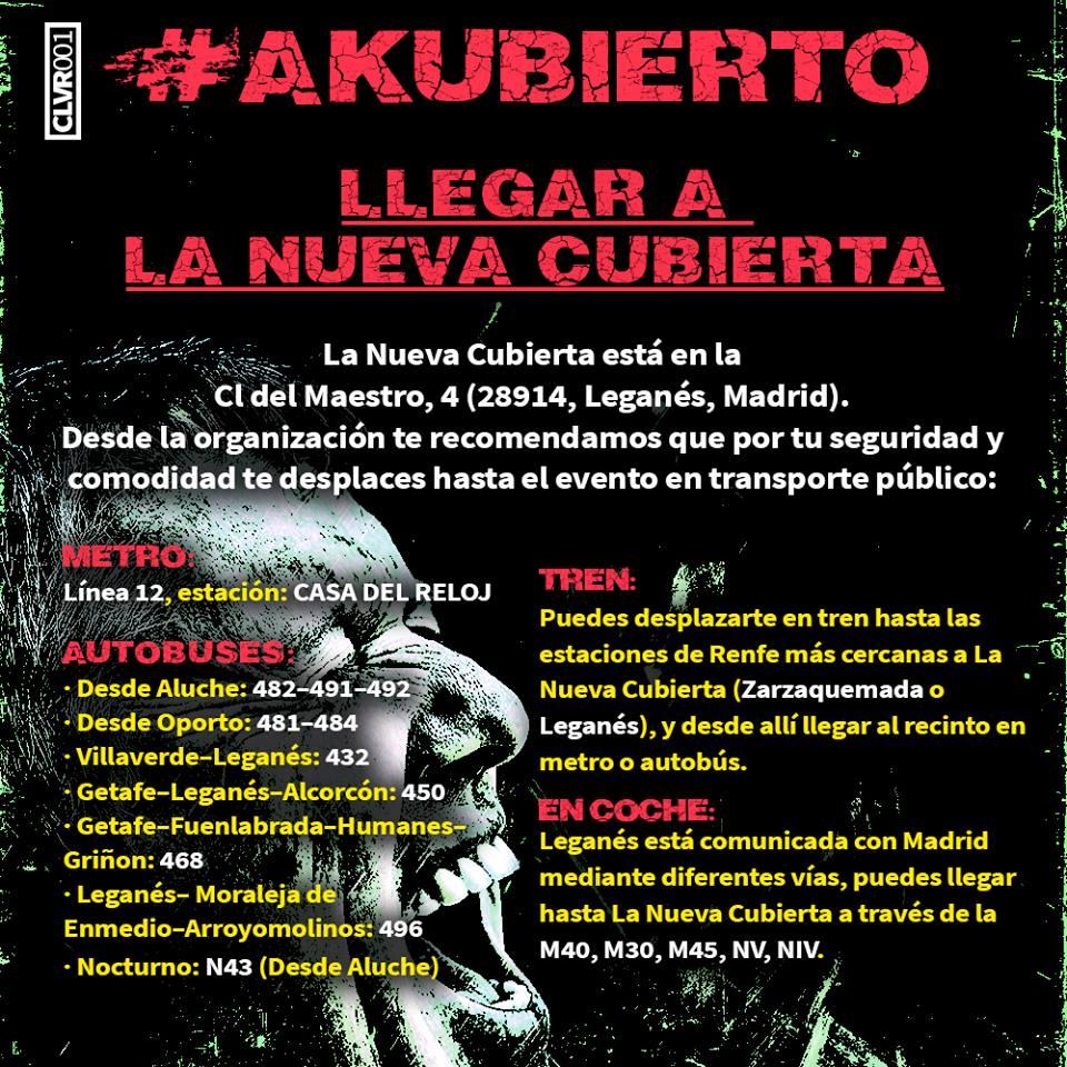 Es la hora de Akubierto, el mejor festival de rock y punk rock nacional! VEN A AKUBIERTO EN TRANSPORTE P  BLICO