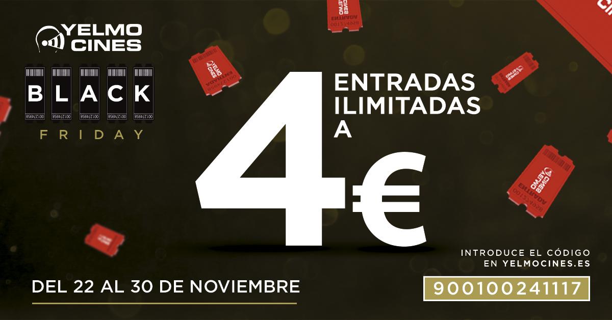 Yelmo Cines lanza promoción por BlackFriday. 30 títulos a 4€ hasta el 30 de noviembre  BF YelmoCines
