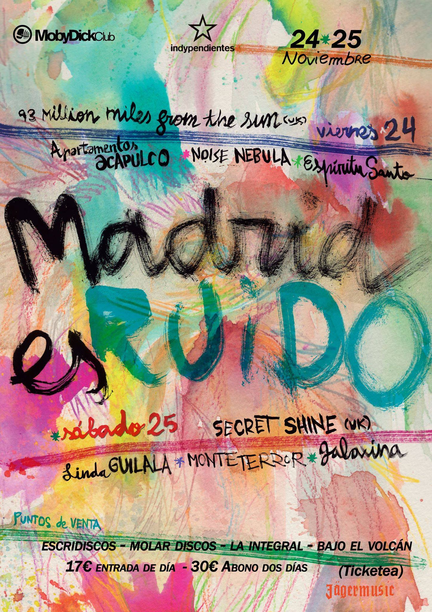 Madrid Es Ruido 2017 con Secret Shine, Apartamentos Acapulco, Galaxina, etc. CARTE MADRID ES RUIDO