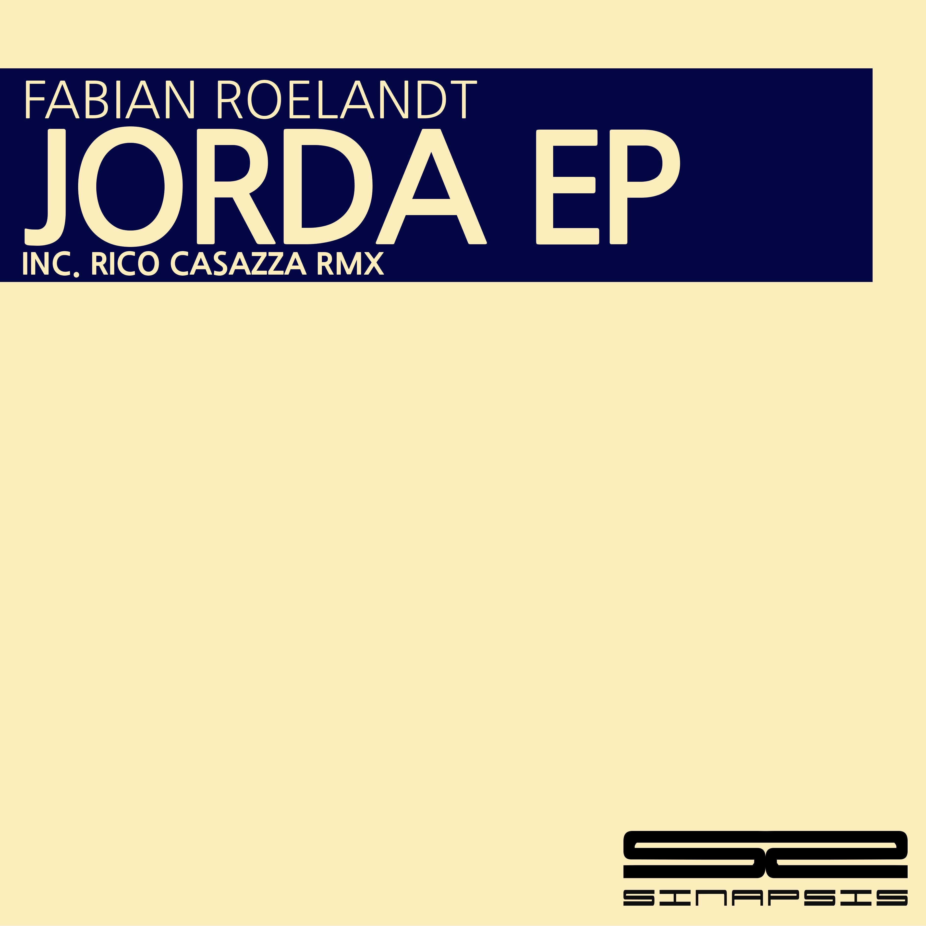 FABIAN ROELANDT FIRMA 'JORDA EP' EN SINAPSIS MUSIC COVER SPS002