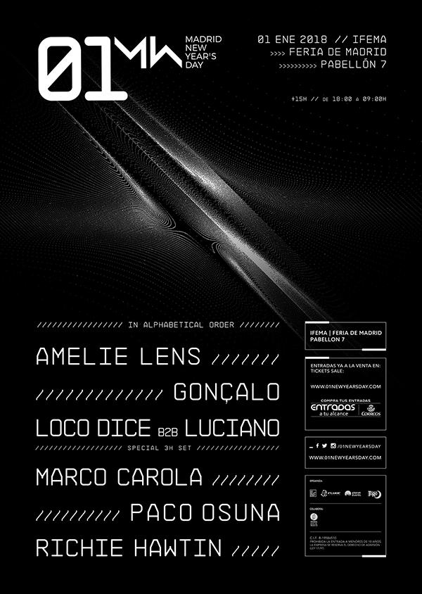 Los mejores artistas de la electrónica internacional pasarán por 01 New Year's Day cartel a484