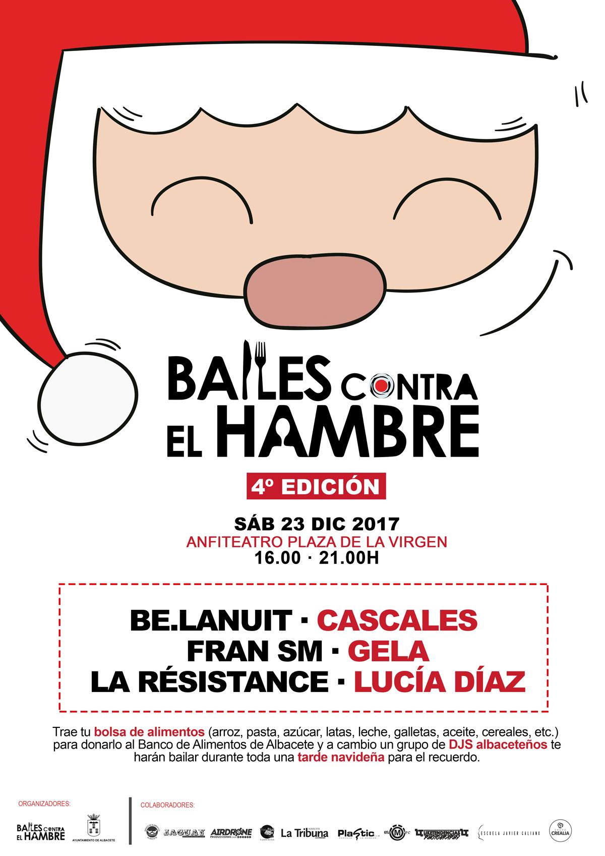 Cuarta edición de 'Bailes contra el Hambre' con Lucía Díaz, Cascales, Be.lanuit, La Resistance, Gela y Fran SM CARTEL 4   BAILES CONTRA EL HAMBRE OFICIAL