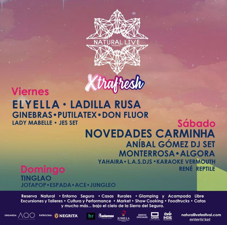 NATURAL LIVE SUMA A RAYDEN A SU FINDE MÁS XTRAFRESH, SEGURO Y EXCLUSIVO CARTEL NATURAL LIVE XTRAFRESH